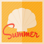 Summer Poster Design — Stock Vector