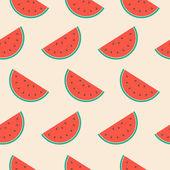 Seamless Watermelon — Stock Vector