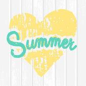 Summer Typographic Design — Stock Vector