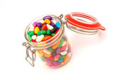 Colorful candy glass on white — Stock Photo