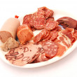 Stock Photo: Germcold meat platter on white