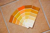 Cartas de color de los azulejos — Foto de Stock