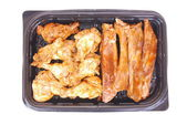 Grilled ribs and chicken — Stock Photo