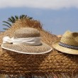Pair of Straw hats — Stock Photo