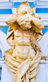 Statue of an angel on a cathedral in Pushkin — Stock Photo