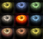Tomates set in varios colors — Stock Photo