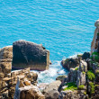 Stock Photo: Cliffs and waves, blue deep sea, Dai Lanh Beach, Phu Yen Province, Vietnam
