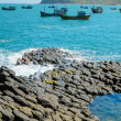 Ghenh Da Dia (Ganh Da Dia), giant's basalt causeway. Tuy An District, Phu Yen Province, Vietnam — Stock Photo