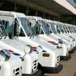 Postal delivery trucks — Foto Stock