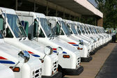 Postal delivery trucks — Stock Photo
