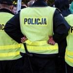 Police action on street — Stock Photo