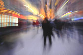Blurred in-camer effect of in the city — Stock Photo