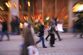 Blurred in-camera effect of in the city — Stock Photo