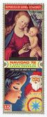 Madonna med jesus barnet på frimärke, circa 1971 — Stockfoto