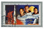миссия apolo 15 приземлиться на луне — Стоковое фото