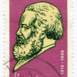 A stamp printed in Germany  of Karl Marx — Stock Photo