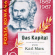 Postage stamp printed in Romania of Karl Marx — Stock Photo #12814025