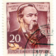 Stock Photo: Friedrich Engels on East Germany postage stamp