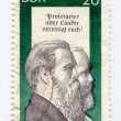 Friedrich Engels on East Germany postage stamp - Stock Photo