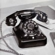 Old Siemens 36 series telephone from the 1930's - Stock Photo