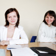 Young women at school — Stock Photo