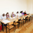 Stock Photo: Young women at school