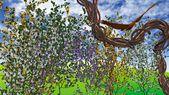 Цветы на лозы — Стоковое фото