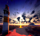 Beautiful lighthouse — 图库照片
