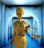 Themis no tribunal — Foto Stock