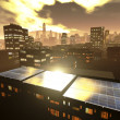 Solar power panels in city — Stock Photo #13302122