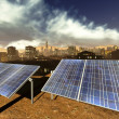 Solar power panels in city — Stock Photo #13302221