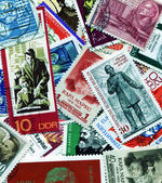 Collection of communists on postage stamps — Stock Photo