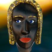 Masque vaudou rituel africain — Photo