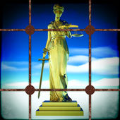 Themis behind bars — Foto Stock