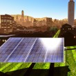 Solar power panels in city — Stock Photo #13656740