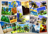 Hawaiian paradise collage — Stock Photo