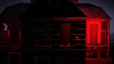 Spooky Halloween Haus Ergebnisse erbracht-Meer — Stockvideo