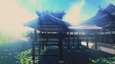 Templo zen budismo — Vídeo Stock