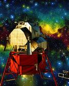 Sattelite in space — Stock Photo