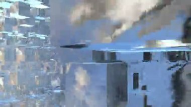 Metallic cubes — Stock Video