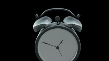 Alarm clock isolated on the black background — Stock Video #14068221