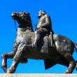 Statue of King, Wroclaw in Poland - Stock Photo