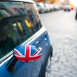 British Patriotism shown on car mirror — Stock Photo #14154808