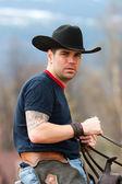 Cowboy's portrait — Stock Photo