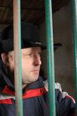 Hombre en una celda — Foto de Stock