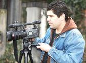Video reporter — Stock Photo