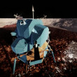 Stock Video: Moon rover on alien planet