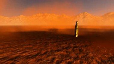 Jesus redentor no deserto — Vídeo Stock