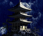 Zen Buddhist temple — Foto Stock
