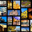 European city in collage - Stock Photo